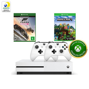 Xbox One S Forza+minecraft Explorers Pack+controle S/ Fio