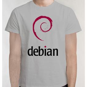 Frete Grátis Debian Linux Camiseta Camisa Blusa Geek 2752fedd9b0