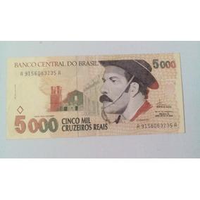 Cédula C239 5000 Cruzeiros Reais Gaúcho 1993