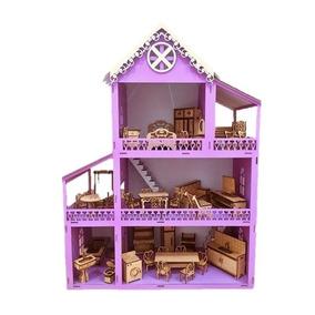 eb7307fcd Casa Da Boneca Mdf Polly Lilas - Bonecas e Acessórios no Mercado ...