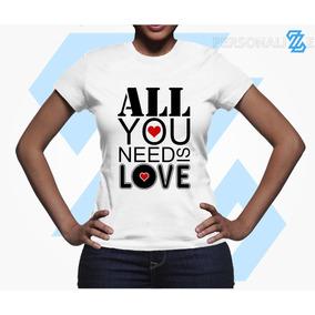 Camiseta Beatles All You Need Is Love Babylook Modelo 01