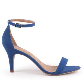 Sandália Cecília Nobuck Azul