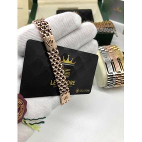 fa99488dfc4 Bracelete Rolex Duplo Banho Ouro 18k Frete Grátis + Brinde