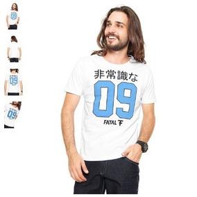 ffb9c36468 Camiseta Fatal Surf Estampada Branca Tam P