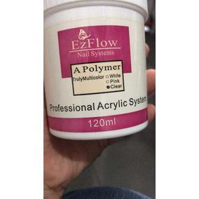 Polvo Acrilico Ezflow Clear Transparente 4oz Manicure Resina
