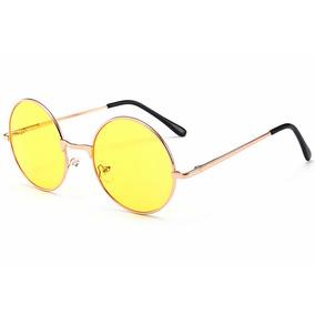 Óculos Redondo Uso Noturno John Lennon Ozzy Woodstock Beatle ... 3b1f268f88