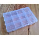 Caja Organizador Plástico Organizadora 12 Divisiones Bijou