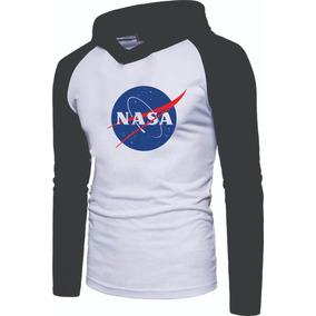 b64243e75 Camiseta Nasa - Camisetas Manga Longa para Masculino no Mercado ...