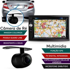Kit Central Multimídia Evolve Gps Tv Digital + Câmera Ré Gol