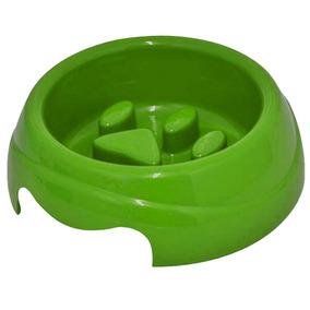 Comedouro Para Cachorros E Gatos De Plástico 1 L Verde
