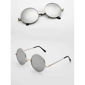 Oculos Redondo Cinza Espelhado - Óculos De Sol no Mercado Livre Brasil d356614fab