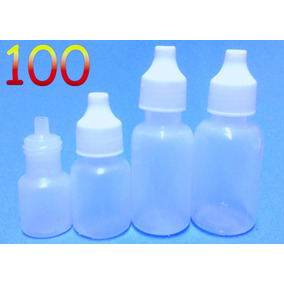 100 Pzas. De Gotero Plastico De 5, 10, 15, 20ml