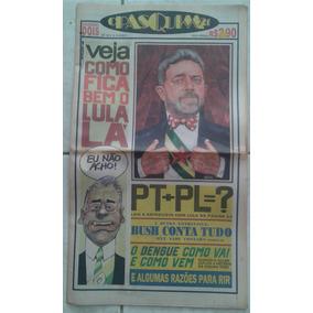 Brasil 2002 Jornal O Pasquim 21 Nº 2 Capa Presidente Lula