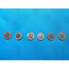6 Moedas De 1 Real Banco Central
