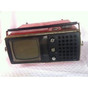 Tv Televisão Crown Model 5tv-5025 Vermelha Antiga Vintage
