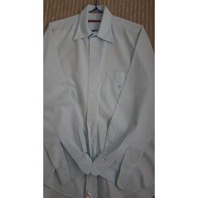 Camisa Brooksfield Linho Italiano Tamanho 4 Azul Água Listra 8f5ab857a6d49
