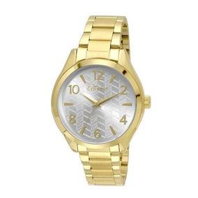 Relógio Condor Feminino Chevron - Dourado