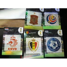 Lote 5 Escudos Adrenalyn Copa 2014 Raros!!
