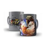 Caneca Copo Xicara Street Fighter Ryu Ken Guile Games 06