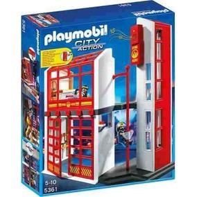Estacion De Bomberos Con Alarma Playmobil R3608