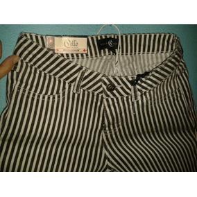Pantalón De Niña Blanco Y Negro