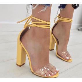 Sandália Salto Quadrado 9cm, 2019 - Várias Cores