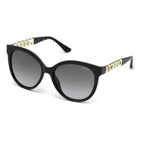 91c6c674fb22e Óculos Feminino Guess Gu7570 05b Preto Dourado Original