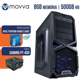 Cpu Gamer Pentium G4560 3.5ghz 7ª Ger Mem 8gb Ddr4 Hd 500g