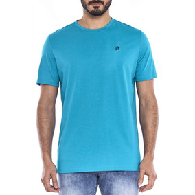 T-shirt Camisa Masculina M/c Regular Turquesa/petróleo