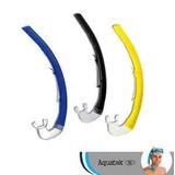 Snorkel Bocas Del Toro Aquatek Color Negro Amarillo Y Azul