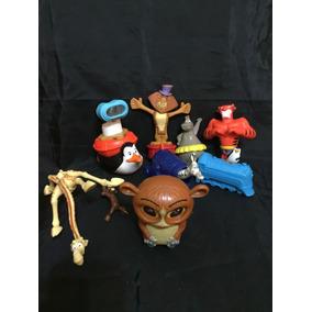 Set X 8 Muñecos De Madagascar Mc Donald