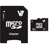 Tarjeta De Memoria Flash V7 8gb Microsdhc Class 4 Con Adapta