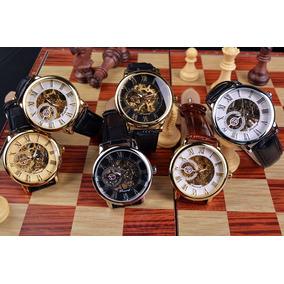 Relógio Forsining A Corda Mecânico Skeleton Luxo