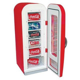Mini Cooler Elétrico Bivolt Para 10 Latas- Coca-cola Vintage