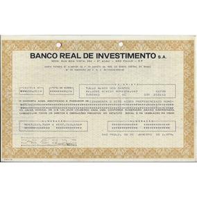 1979 Ação Ordinária Nominativa Banco Real Investimentos