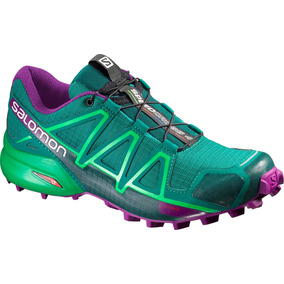 Zapatilla Femenina Salomon- Speedcross 4 W Verde morado 4e74413982c