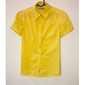 Camisa Para Dama Color Amarillo Talla M Usada