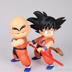 Kit Goku Kuririn Jovens Bonecos De Ação 21cm Promoção