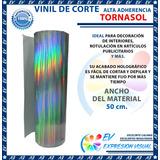 Vinil Autoadherible Adhesivo Holografico Tornasol Espejo 1mt