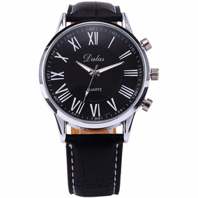 3ea34adae2f Relógio Prata Pulseira Preto Dalas R004 Promoção!