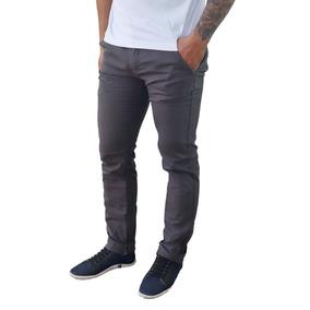 Calça Jeans Sarja Masculina Slim Skinny Com Lycra