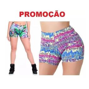 Kit Com 10 Shorts Sexy Dança Lycra Feminino Academia Barato 29803deda462a