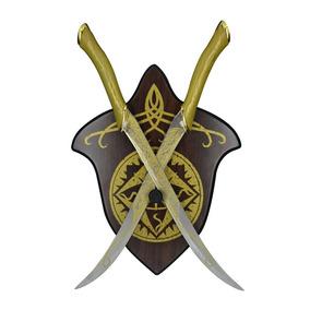 Espadas Decorativas -medieval - Com Suporte De Madeira
