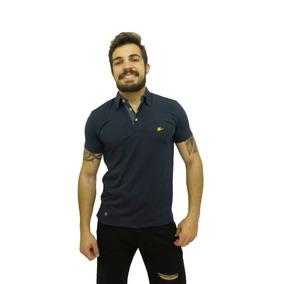 9006a69186 Camisa Polo Sallo Masculina Amarela Detalhada - Calçados