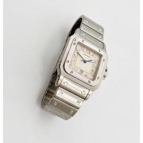 Reloj Cartier Santos De Acero Inox Quartz Original