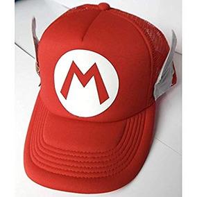 Super Mario Bros Gorra Trucker Camionero Alitas Roja Broche 8d331d94ae6