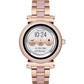 Reloj Smartwatch Michael Kors Sofie Pavé Rose Gold