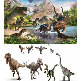 Kit Display Dinossauros 8 Peças + Painel 2 X 1,50 Totens
