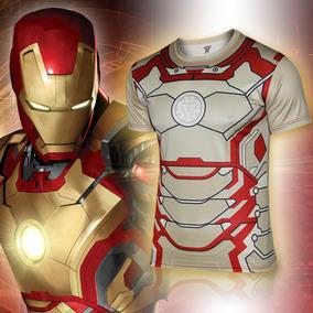Playera Corta Comics Superheroes Iron Man Hombre Xtreme C