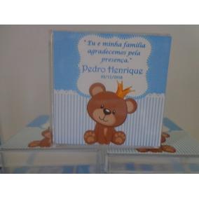 Caixinha Acrílica 4x4- Chá-de-bebe -personalizada-20 Peças